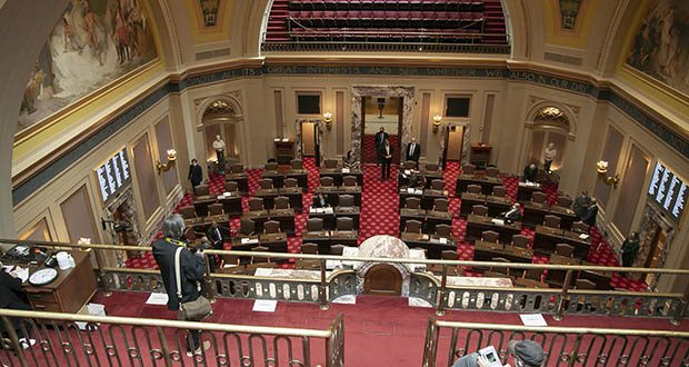 The Senate Chamber in the Minnesota State Capitol in St. Paul. (File photo: Kevin Featherly)