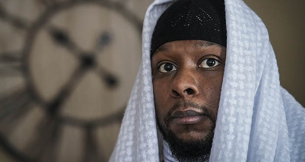 Myon Burrell is photographed at his home in Minneapolis on Dec. 17, two days after his release from prison. (AP photo: John Minchillo)