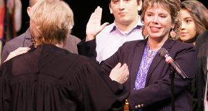 Anne McKeig became the first Native American to serve on the Minnesota Supreme Court, taking the oath of office on Sept. 15, 2016. (File photo: Bill Klotz)