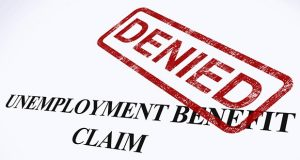 Unemployment Benefit Claim Denied Stamp Shows Social Security Welfare Refused