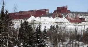 This Feb. 10, 2016, photo shows the closed LTV Steel taconite plant near Hoyt Lakes, Minnesota. The site was later awarded to the planned PolyMet copper-nickel mine. (AP file photo: Jim Mone)