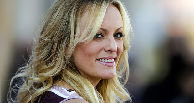 Pornography actress Stormy Daniels attends the opening of an adult entertainment fair in Berlin on Oct. 11, 2018. (AP file photo)