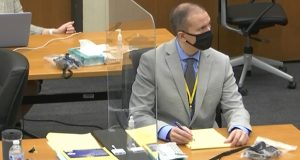 In this image from video, former Minneapolis police officer Derek Chauvin listens as Hennepin County Judge Peter Cahill presides over pretrial motions before jury selection Tuesday at the Hennepin County Courthouse in Minneapolis. Chauvin is charged in the May 25, 2020 death of George Floyd. (Court TV via AP, Pool)