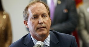 Texas Attorney General Ken Paxton speaks at the Austin Police Association on Sept. 10, 2020. Twitter claims the Republican used his office to retaliate against it for banning the account of former President Donald Trump following the Jan. 6 riot at the U.S. Capitol. (Austin American-Statesman via AP)