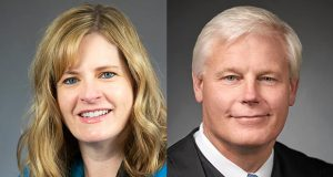 Rep. Kelly Moller (left) and Justice Paul Thissen