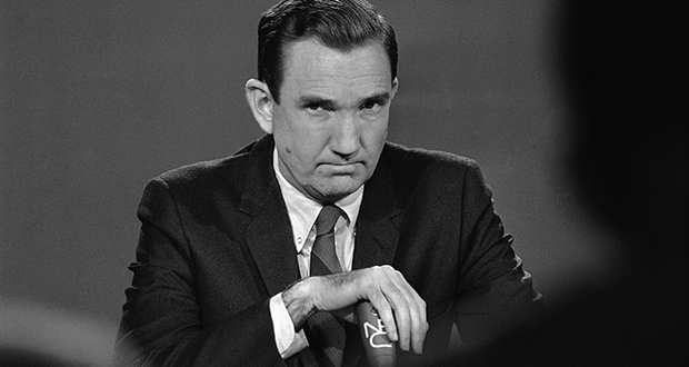 """Attorney General Ramsey Clark appears April 7, 1968, on NBC's """"Meet the Press"""" in Washington to discuss the manhunt following the assassination of Dr. Martin Luther King, Jr. (AP file photo)"""