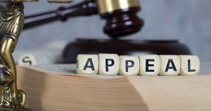 Picture of word 'Appeal' next to a gavel