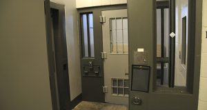 This undated photo provided by the Minnesota Department of Corrections shows a cell in the Administrative Control Unit at the Oak Park Heights facility. This cell is similar to the cell that former Minneapolis police officer Derek Chauvin has been in since he was found guilty in April for the May 25, 2020, death of George Floyd. (Minnesota Department of Corrections via AP)