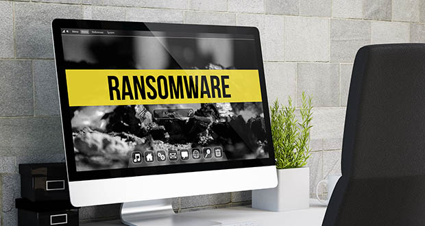 Image of computer reading 'Ransomware'