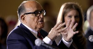 Rudy Giuliani, a lawyer for President Donald Trump, speaks Nov. 25, 2020, at a hearing of the Pennsylvania State Senate Majority Policy Committee in Gettysburg, Pennsylvania. (AP file photo)
