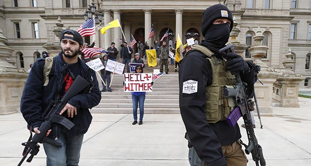 protesters who occupied the Michigan State Capitol