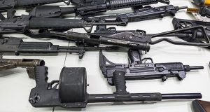 In this 2012 file photo are some of the weapons collected in a Los Angeles gun buyback event displayed during a news conference at police headquarters in Los Angeles. (AP file photo)