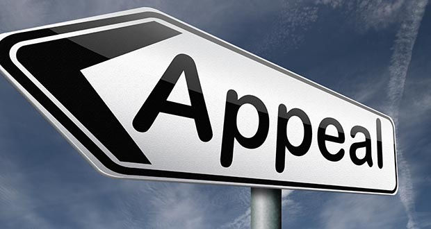 Sign that says 'appeal' on it