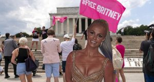 Supporters at a 'Free Britney' rally