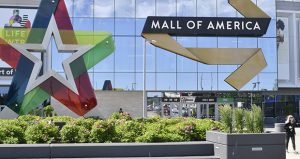 A visitor leaves the Mall of America June 11, 2020, in Bloomington. (AP photo: Jim Mone)