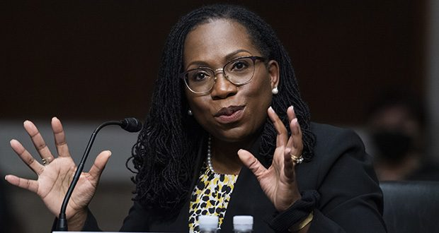 In this April 28 photo, Ketanji Brown Jackson, nominated to be a U.S. Circuit Judge for the District of Columbia Circuit, testifies before a Senate Judiciary Committee hearing on Capitol Hill in Washington. She is among the eight Biden-nominated judges to be confirmed so far. (AP file photo)