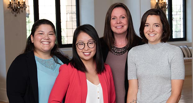 Picture from left are Erica Boos, Youa Yang, Katie Salaba and Nora Radtke